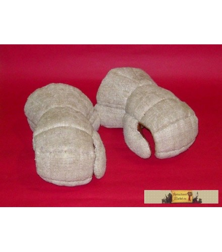 """Gloves with """"cuff"""" with plate parts sewed inside"""