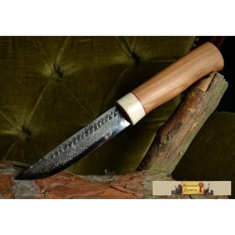 FORGED KNIFE, reindeer, plum wood