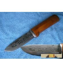 DAMASCUS KNIFE apple tree
