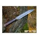 HJÖRTUR, Viking seax knife, damask