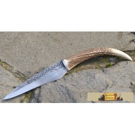 FIANNA, hand forged knife, deer antler