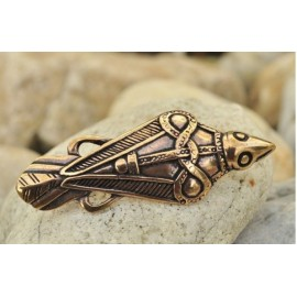 VIKING RAVEN BROOCH, Oland, Sweden, bronze brooch