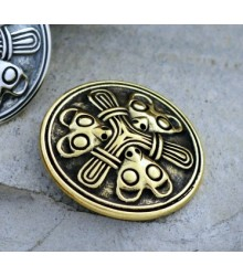 Small Viking brooch in Borre style - bronze