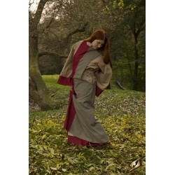 Dress Runa - Dark Red/Dryad Green