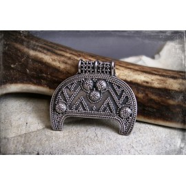 Birka lunik pendant (lunula, lunitsa), Viking lunar pendant replica - bronze