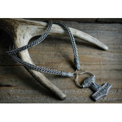 Single weave silver Viking necklace