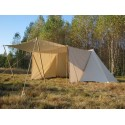 Merchant GETELD Tent 3 x 6m with winshields and front closing - cotton