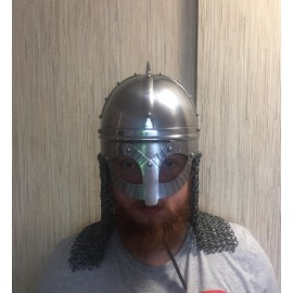 Gjermundbu Helmet Combat Replica with open chainmale