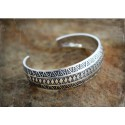 Silver Viking stamped bracelet from Gotland