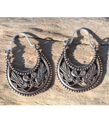 BYZANTINE EARRINGS, X. Cent., Viking Rus, BRONZE