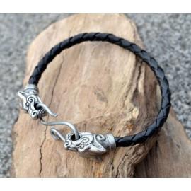 WOLF FENRIR, leather bangle