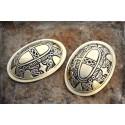 Viking tortoise (oval) brooches, bronze
