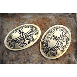 Viking tortoise (oval) brooches, bronze