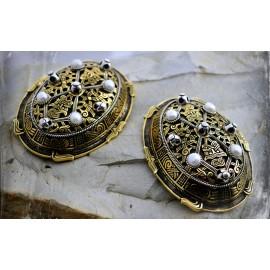 Luxury Viking tortoise brooches