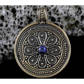 Slavic pendant, Moravia Magna Empire, bronze