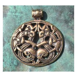VIKING PENDANT, Borre style, bronze