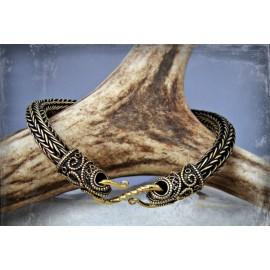 Flexible, bronze Viking style bracelet