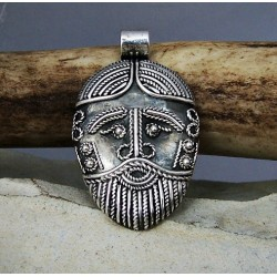 Viking filigree pendant, face from Birka, replica BRONZE