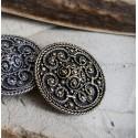 Medium size round Viking filigree brooch replica, Sweden BRONZE