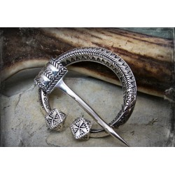 Viking penannular brooch in silver or bronze