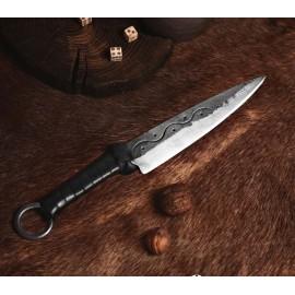 CRUACHAN, forged Celtic knife with sheath