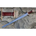 Viking Sword Petersen Type O, bronze, silver wire