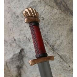 Viking Sword Petersen Type O, bronze pommel