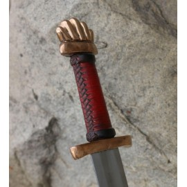 Viking Sword Petersen Type O, bronze pommel