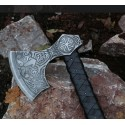 Axe of Perun, etched with leather
