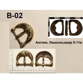 Belt Buckle Replica, Viking Age, bronz