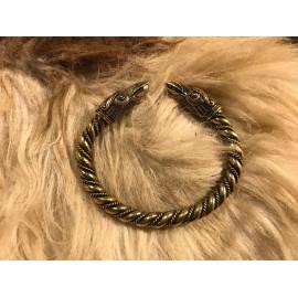 Bracelet Vikings. Stylization Bronze