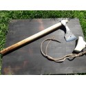 """Hand forged axe Hand forged axe with antler """"scarbard"""". Early medieval type."""
