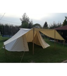 GETELD Tent 3 x 6m - WOOL - with winshields